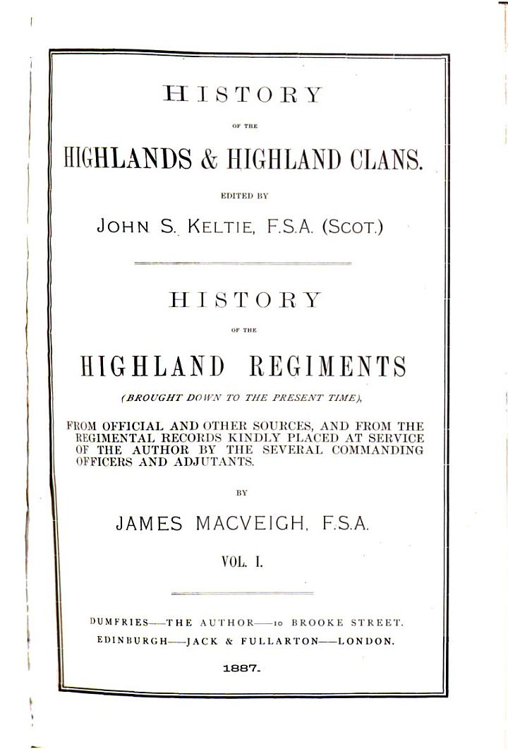 History of the Highlands & Highland Clans