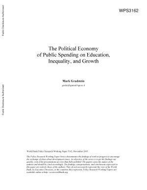 The Political Economy of Public Spending on Education  Inequality  and Growth PDF