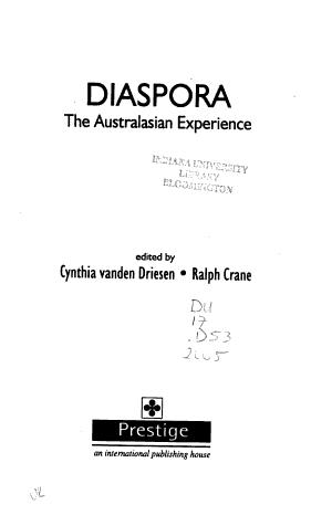 Diaspora  the Australasian Experience