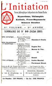 L'Initiation: cahiers de documentation ésotérique traditionnelle