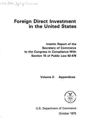 Foreign Direct Investment in the United States PDF
