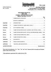 Fabric Repair Specialist: MOS 43M, Skill Levels 1, 2, 3, & 4
