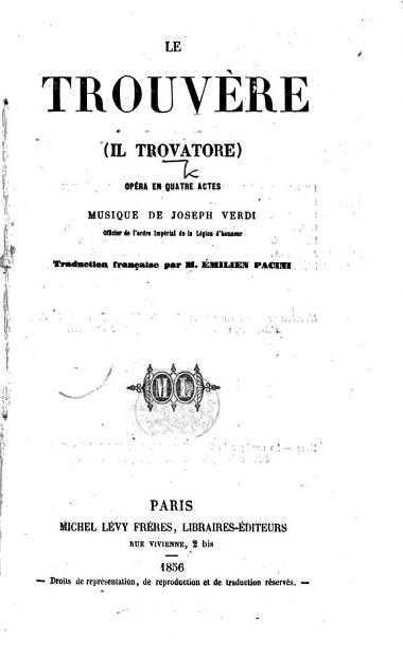 Download Le Trouv  re Il Trovatore op  ra     Traduction fran  aise  from the Italian of Salvadore Cammarano  par M  E  Pacini Book
