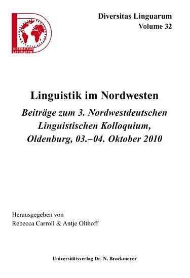 Linguistik im Nordwesten PDF