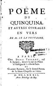 Poëme du Quinquina et autre ouvrages en vers de La Fontaine