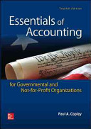 Essentials of Accounting for Governmental and Not for Profit Organizations PDF