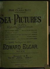 Sea-pictures: A Cycle of Five Songs for Contralto