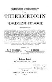 Deutsche Zeitschrift für Tiermedicin und vergleichende Pathologie: Bände 3-4
