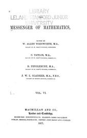 The Messenger of Mathematics ...: Volume 6