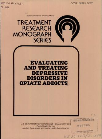 Evaluating and Treating Depressive Disorders in Opiate Addicts PDF