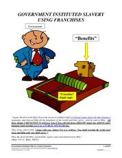 Government Instituted Slavery Using Franchises, Form #05.030
