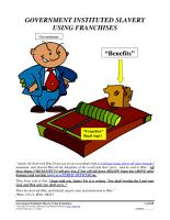 Government Instituted Slavery Using Franchises  Form  05 030 PDF