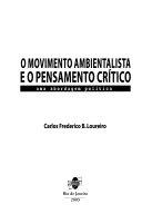 O movimento ambientalista e o pensamento cr  tico PDF