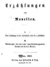 Erzählungen und Novellen 1. Das Nachtlager in der Spielhöhle: Von Boz Dickens ...