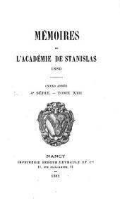 Mémoires de l'Académie de Stanislas