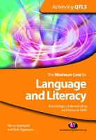 The Minimum Core for Language and Literacy  Knowledge  Understanding and Personal Skills PDF
