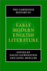 The Cambridge History of Early Modern English Literature PDF