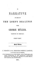 A Narrative of Some of the Lords Dearlings with George Muller