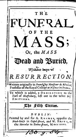The funeral of the mass  or  The mass dead and buried  tr  by S A   5th  Irish  ed PDF
