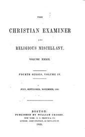 The Christian Examiner: Volume 39