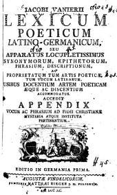 Lexicum poeticum latino-germanicum