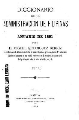 Diccionario de la Administraci  n de Filipinas PDF