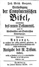 Genauere Untersuchung des zu Alcala gedruckten griech. Neuen Testaments