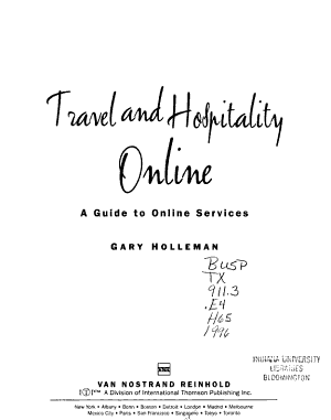 Travel and Hospitality Online PDF