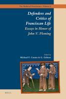 Defenders and Critics of Franciscan Life PDF