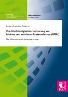 Die Nachhaltigkeitsorientierung von kleinen und mittleren Unternehmen  KMU  PDF
