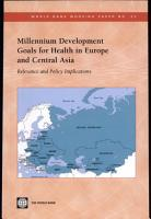 Millennium Development Goals For Health In Europe And Central Asia PDF