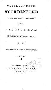 Vaderlandsch woordenboek: Volume 23
