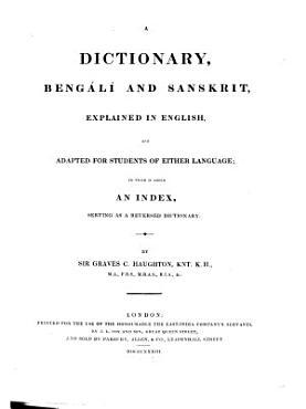 A Dictionary  Beng  l   and Sanskrit PDF
