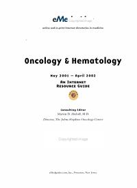 Oncology   hematology PDF