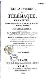 """Les Aventures de Télémaque, fils d'Ulysse, par François Salignac de La Mothe Fénelon,... Nouvelle édition, à laquelle on a joint la traduction de six livres de """"l'Odyssée"""" et les Aventures d'Aristonoüs"""