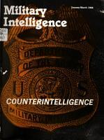Military Intelligence PDF