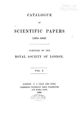 Catalogue of Scientific Papers  1800 1900   ser  3   1874 1883 PDF