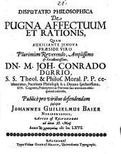 Disp. philos. de pugna affectuum et rationis