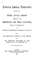 Annual Report Presented at a Meeting of the Council PDF