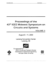 IEEE 43rd Midwest Symposium on Circuits and Systems PDF