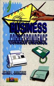 Business Correspondence 2000 Ed  Book