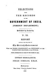 Selections from the Records of the Government of India, Foreign Department: Issue 12