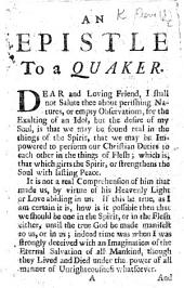 An Epistle to a Quaker