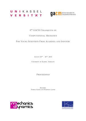 Proceedings of 8th GACM Colloquium on Computational Mechanics