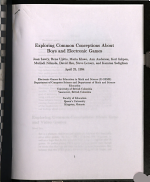 Exploring Common Conceptions about Boys and Electronic Games PDF