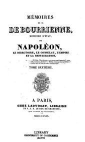 Memoires de M. de Bourrienne, ministre d'etat: Volume8