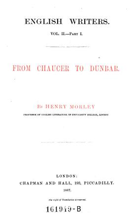 From Chaucer to Dunbar PDF