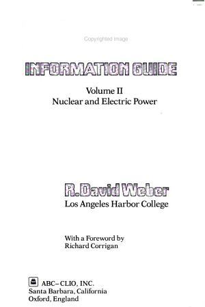 Energy Information Guide  Nuclear and electric power PDF