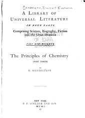 The Principles of Chemistry: Volume 2, Part 1