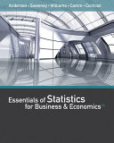 Essentials of Statistics for Business and Economics + Cengagenow, 1 Term Printed Access Card